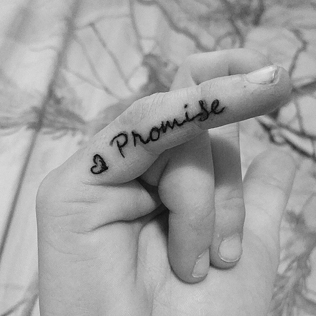 pinky promise tattoo for girls