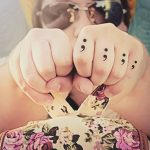semicolon tattoos look fabulous on fingers