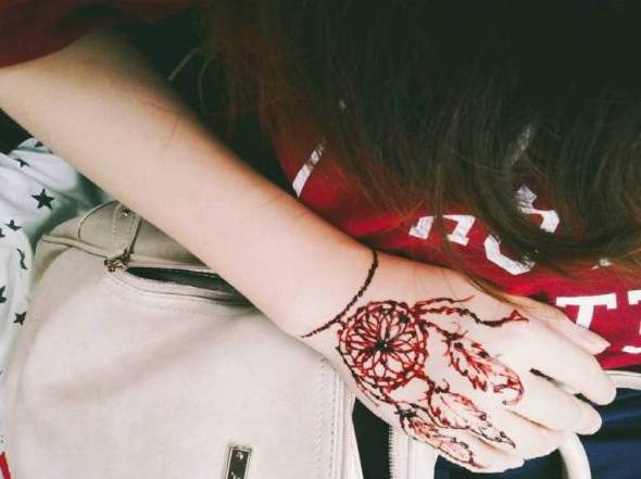 tiny dreamcatcher tattoo on wrist