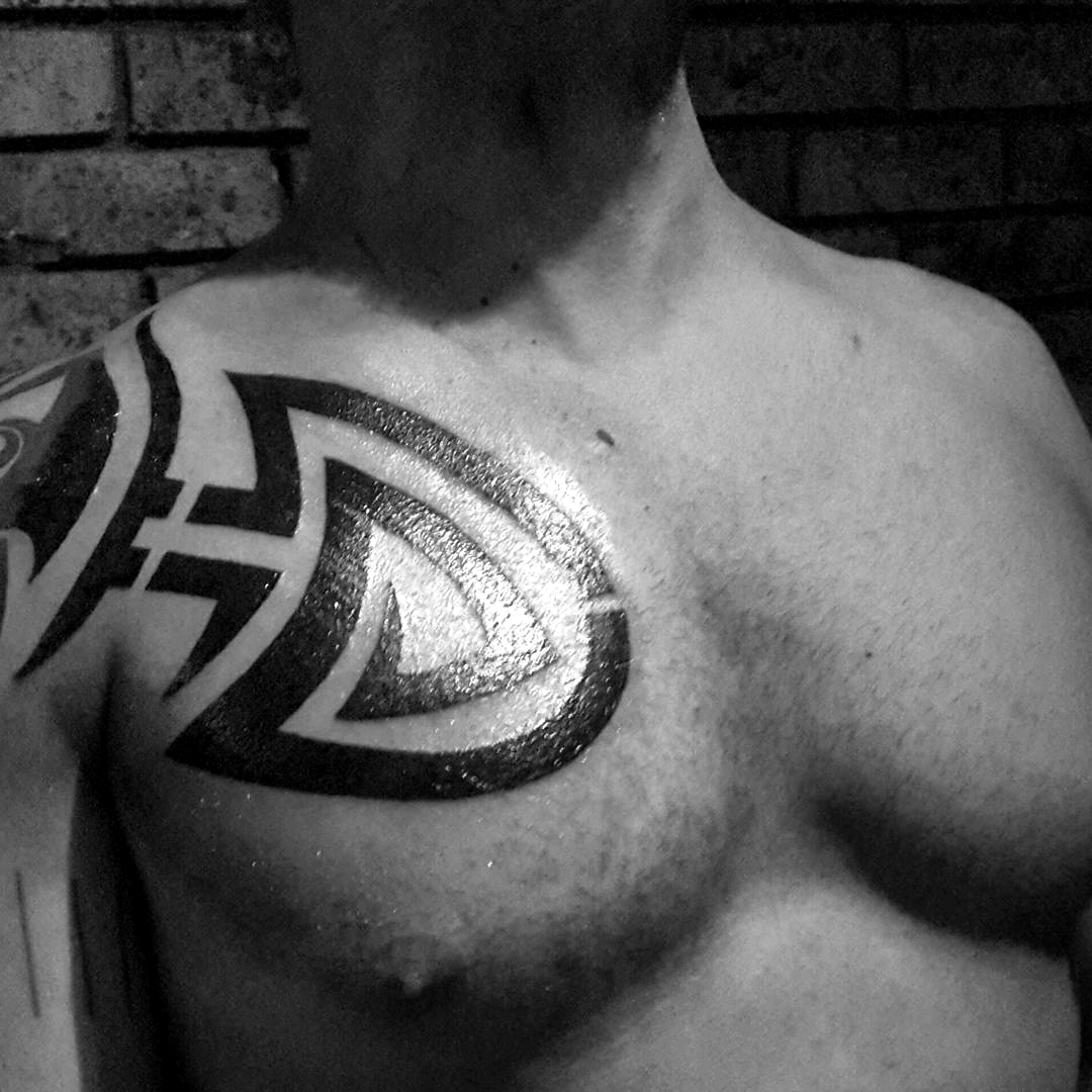 Tribal tattoos for mens chest