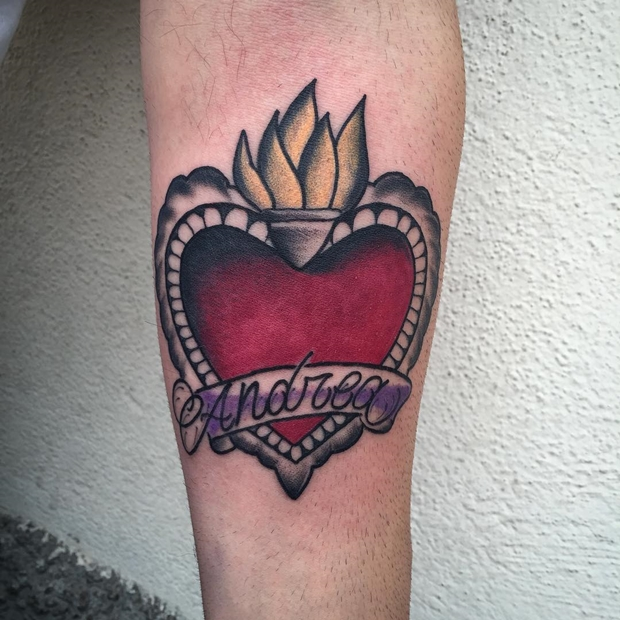 Tattoos Hearts with Names-4