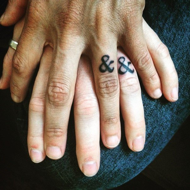 awesome wedding ring tattoo