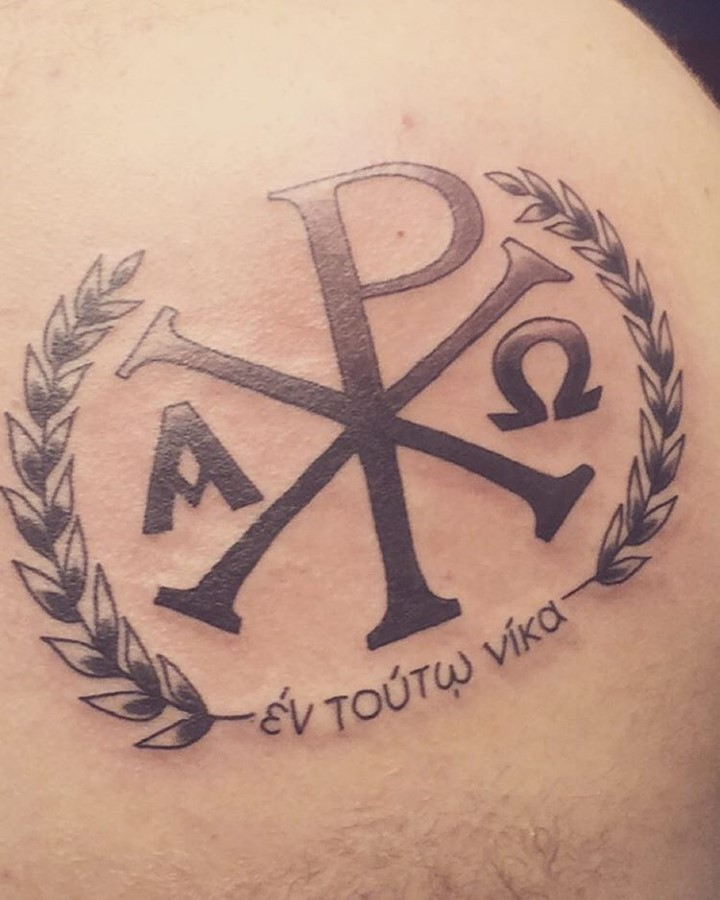 chi-rho-tattoo-design-with the greek-lettering