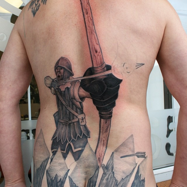 dark-hunter-bow-and-arrow-tattoo