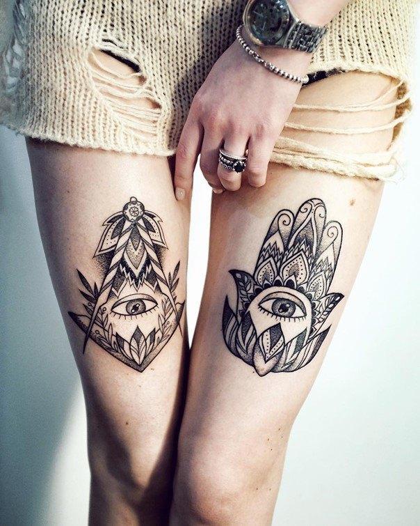 hamsa hand tattoos-2