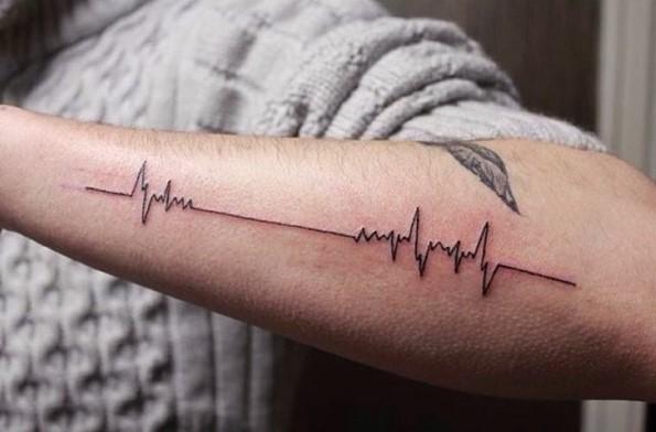heartbeat lifeline tattoo-3
