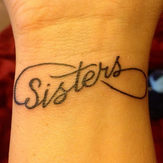 infinity tattoo for sisters on wrist