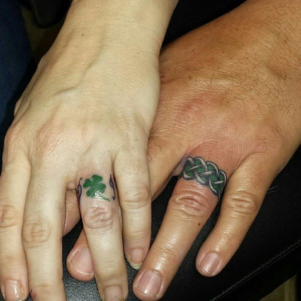 irish wedding ring tattoos