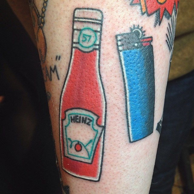 ketchup bottle tattoos meanings