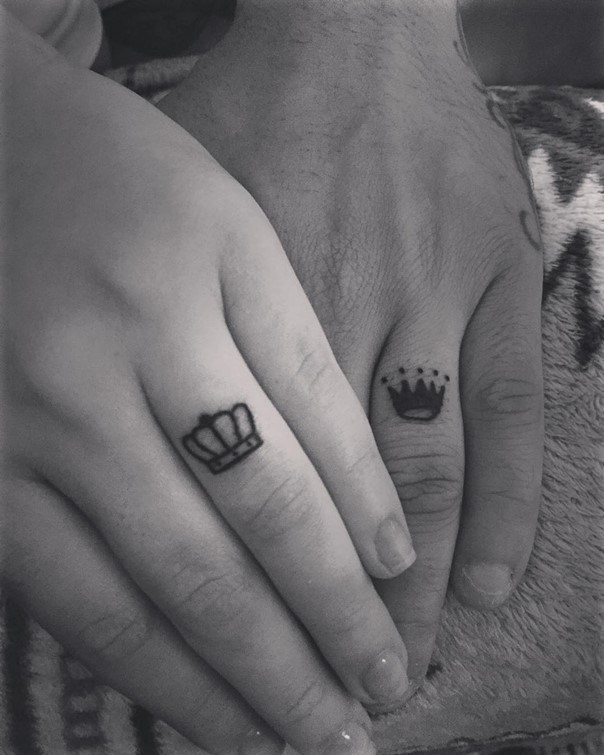 king queen wedding ring tattoo