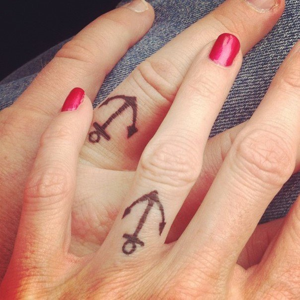 nautical wedding ring tattoos