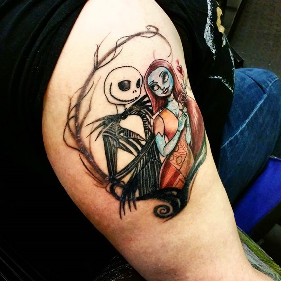 nightmare before christmas arm tattoo