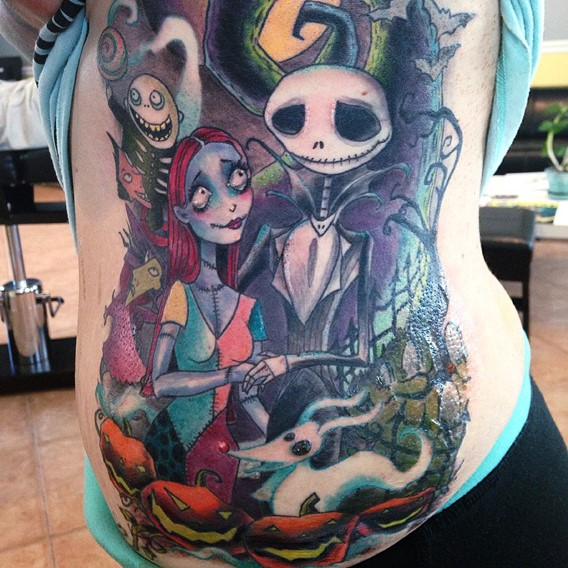 nightmare before christmas back tattoos
