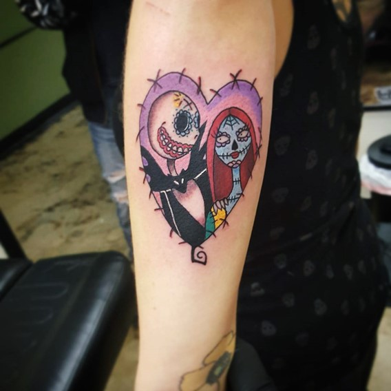 nightmare before christmas love tattoos