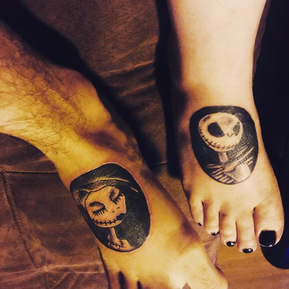 nightmare before christmas matching tattoos