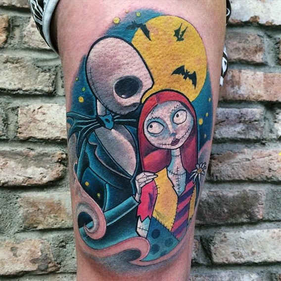 nightmare before christmas tattoo art