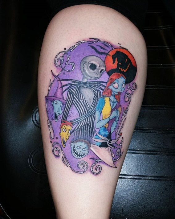 nightmare before christmas tattoo pictures