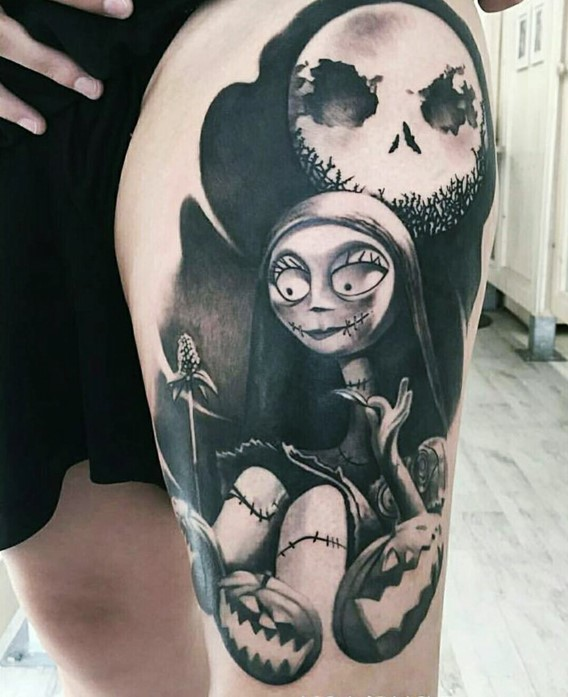 sally from nightmare before christmas tattoos