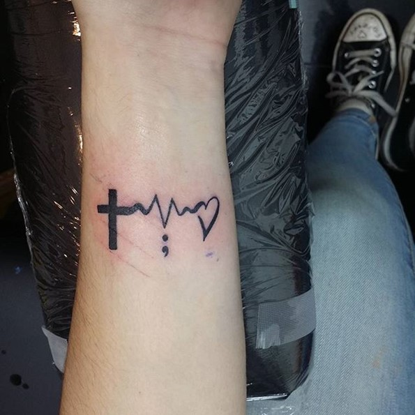 semicolon lifeline tattoo-2