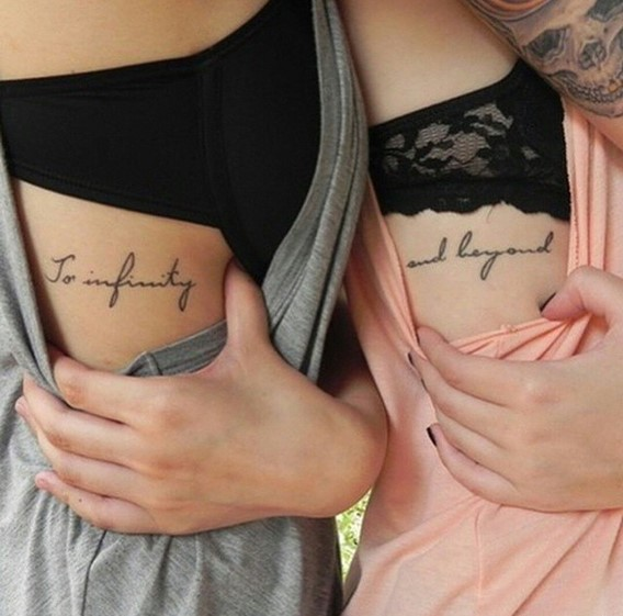 sister tattoos to infinity and beyond