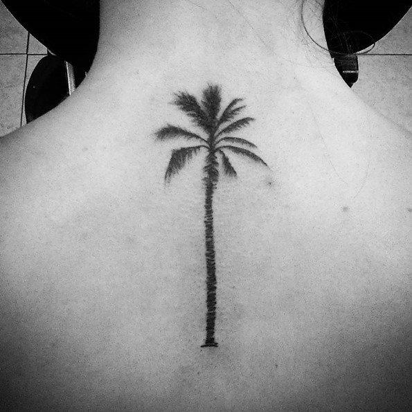 palm tree tattoo designs back