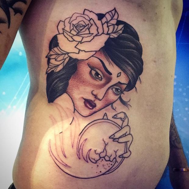 gypsy side tattoos for girls