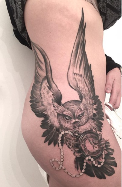 side thigh tattoos for girls
