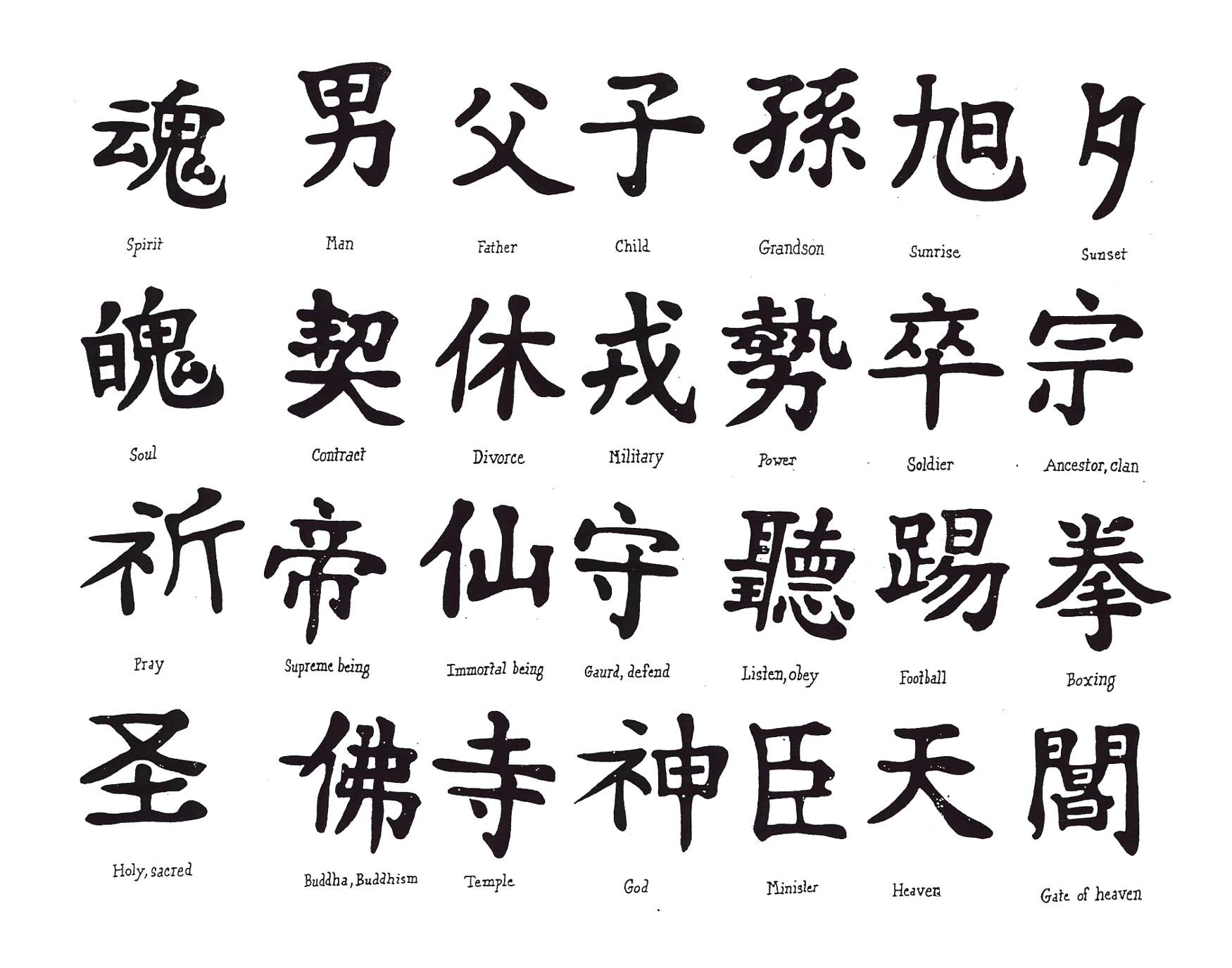 Chinese-and-Japanese-calligraphy-tattoos