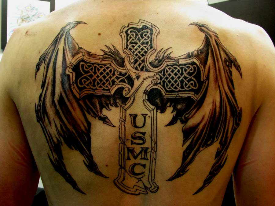 crosses-tattoos-with-wings