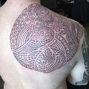mens shoulder tattoo